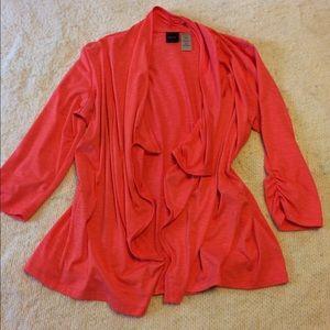 Rafaella vibrant waterfall cardigan 3/4 sleeve